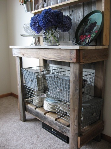 Close-up of Bottom Rustic Hutch