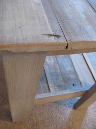 Close-up of an end table