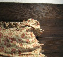 Close-up of Completed Barn Board Bed