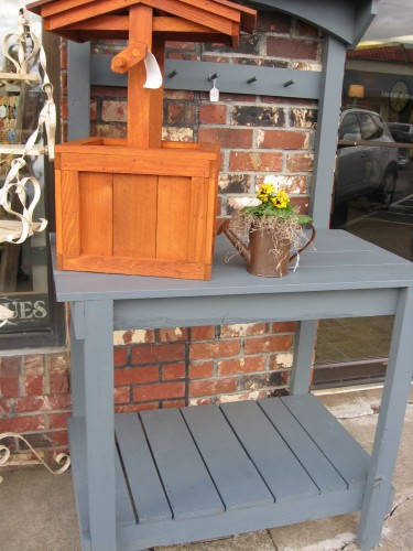 Heritage Blue Potting Bench