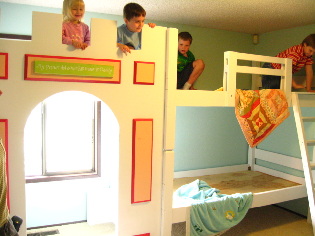 Bunk Beds with Castle attached