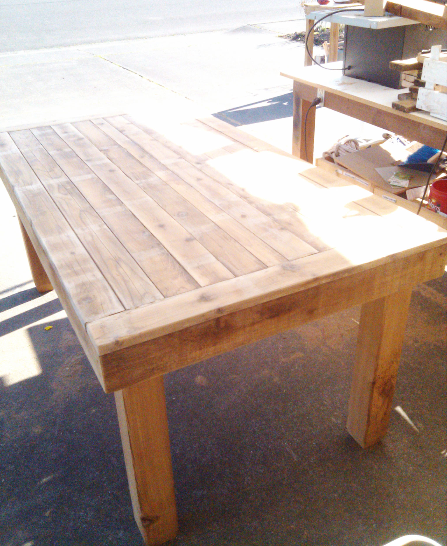 barnwood table unfinished