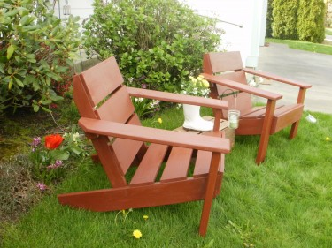 Cedar burnt red Patio Chairs