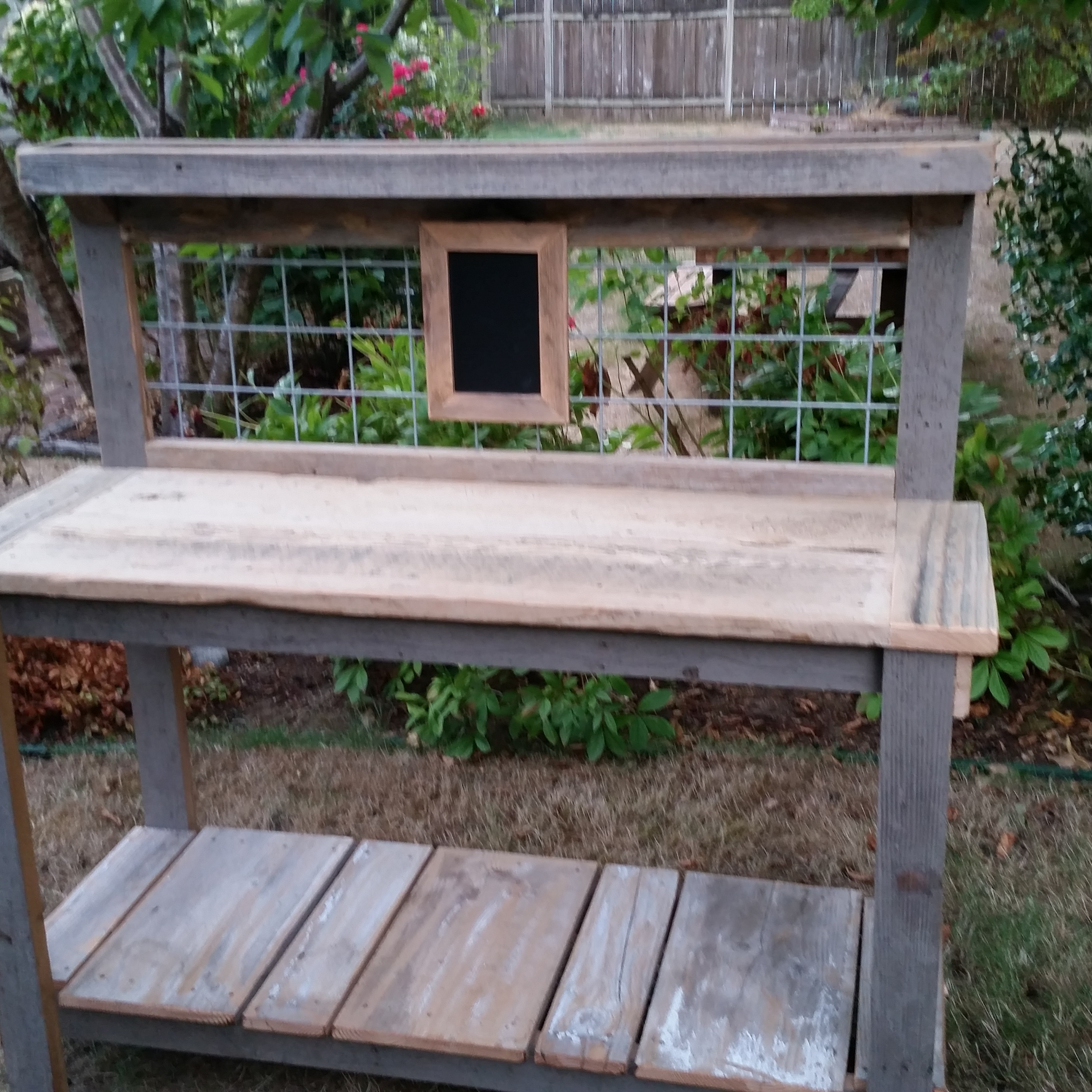 Barbecue Prep Table Dream Garden Woodworks