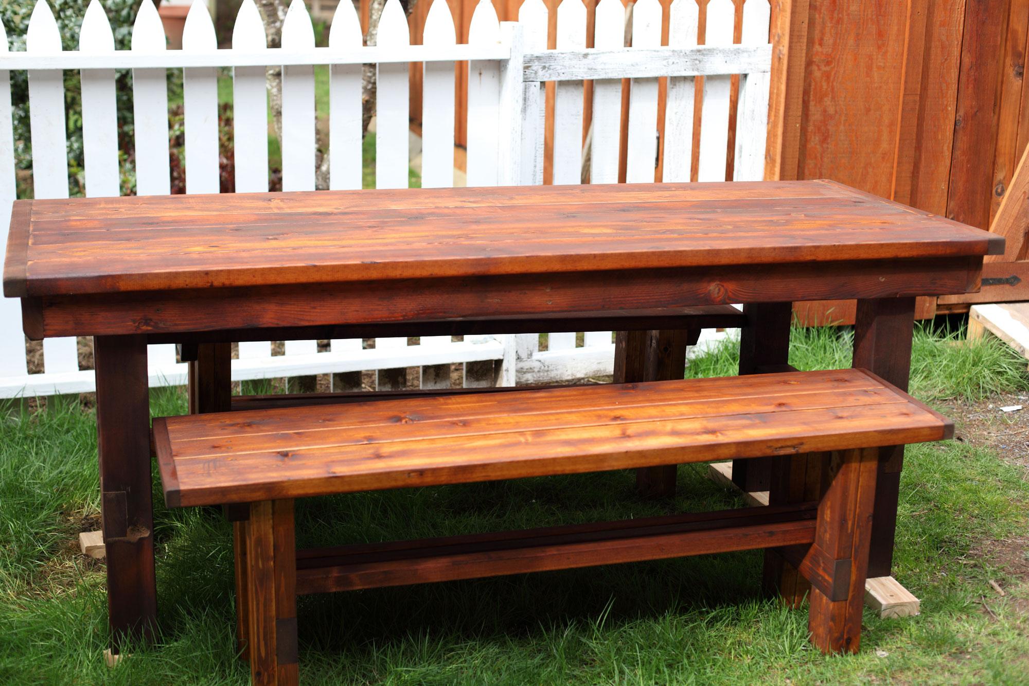 Wondrous Outdoor Table Benches Dream Garden Woodworks Creativecarmelina Interior Chair Design Creativecarmelinacom
